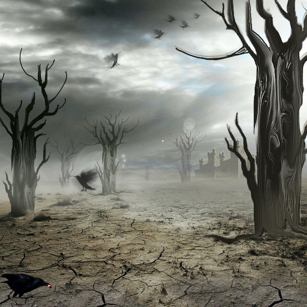 Paysage lugubre fond pour cr a gothique halloween for Crea paysage