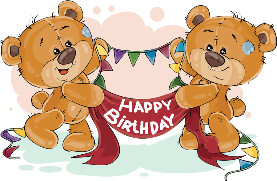 Anniversaire Png Tube Ours Dessin Birthday Clipart