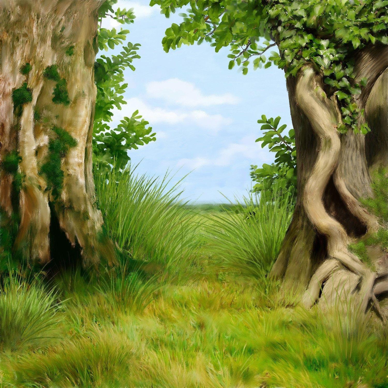 Fond pour cr a paysage arbres scrapbook background for Crea paysage