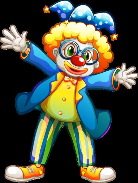 Clown colored dessin couleur png clown pagliaccio - Dessiner un clown ...