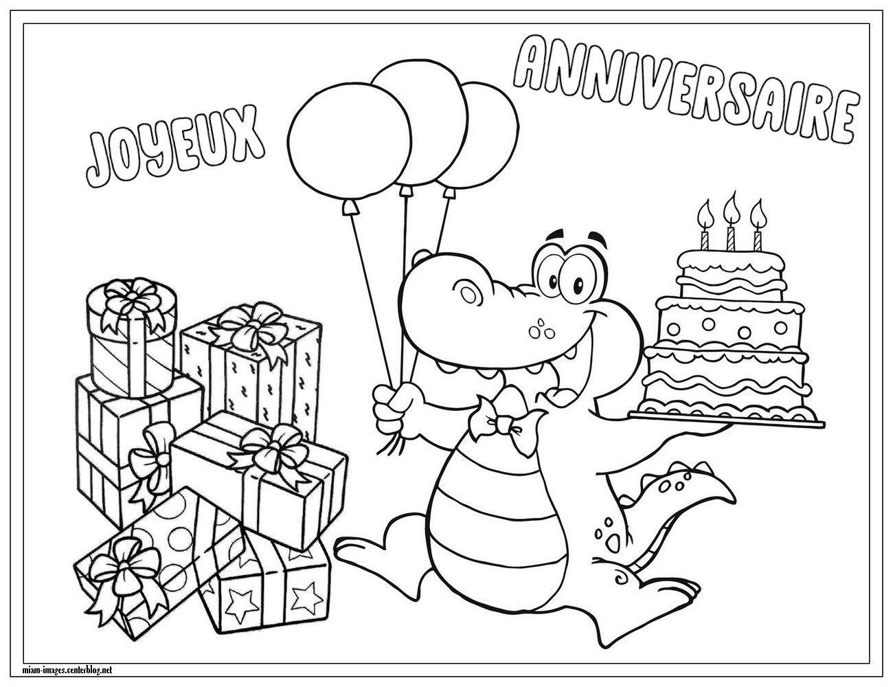 Miam images page 11 - Joyeux anniversaire a colorier ...