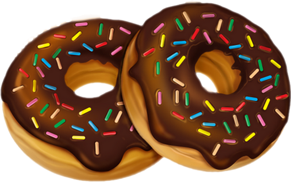 Dessin Png Donuts Au Chocolat Tube Sweet Food Clipart