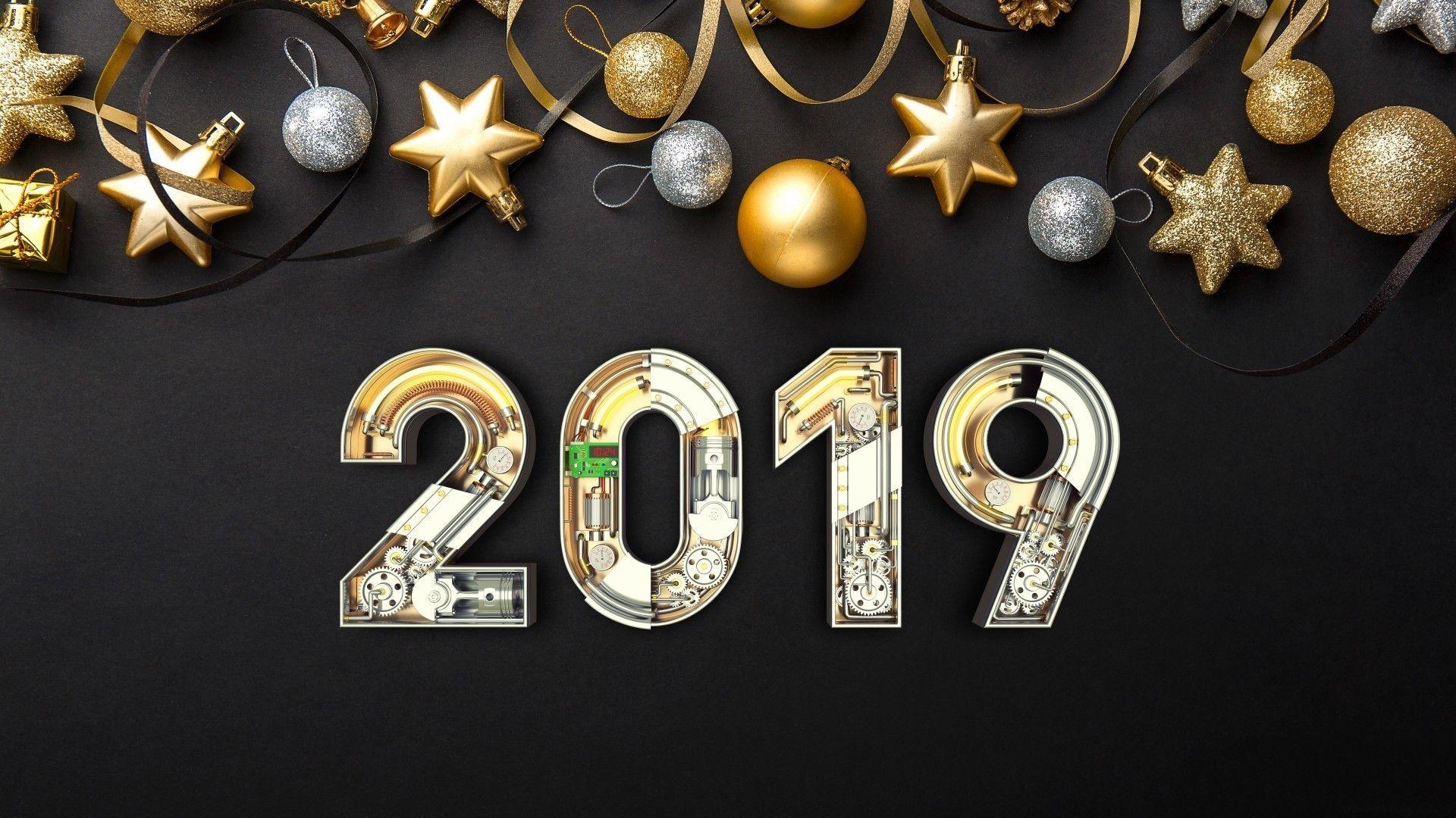 2019 : fond d'écran Nouvelle Année / New Year wallpaper