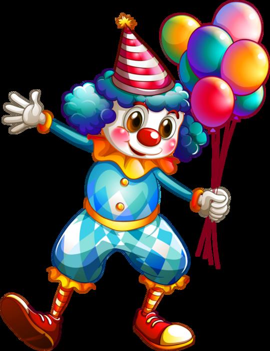 Clown colored dessin couleur png clown et ballons - Dessiner un clown ...
