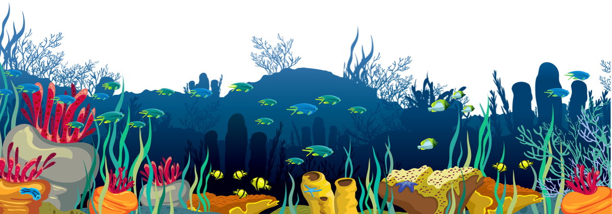 Fond marin png, poissons, dessin . Seabed png, drawing