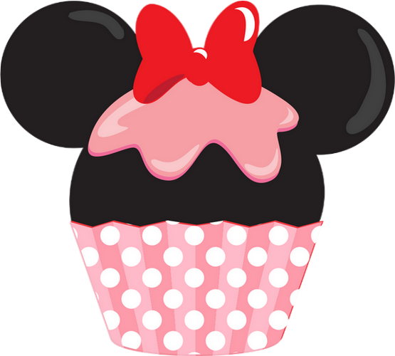 Cupcake minnie mouse drawing dessin - Cupcakes dessin ...