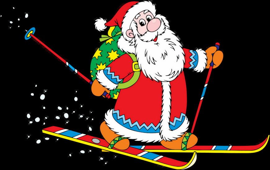 Image Pere Noel En Ski.Pere Noel Png Ski Babbo Natale Santa Claus Png