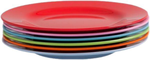 Pile d 39 assiettes en couleur - Assiette ronde en verre transparent ...