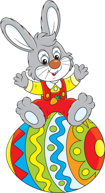 Easter Bunny With Eggs Clipart Miam-Images - P...