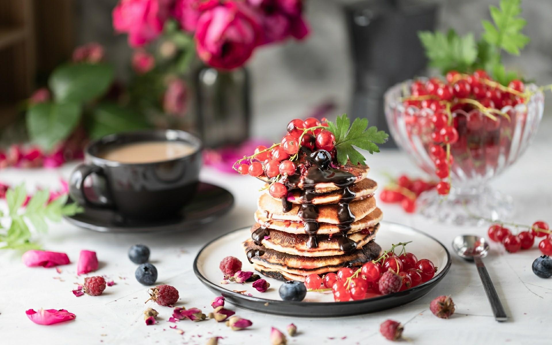 Crêpes, fond d'écran nourriture - Pancakes wallpaper