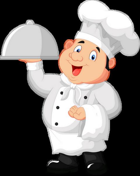 Chef cuisinier en plein service for Credence en verre transparent cuisine