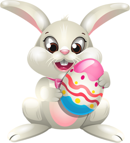 Tube lapin, oeuf de Pâques : dessin - Bunny drawing png