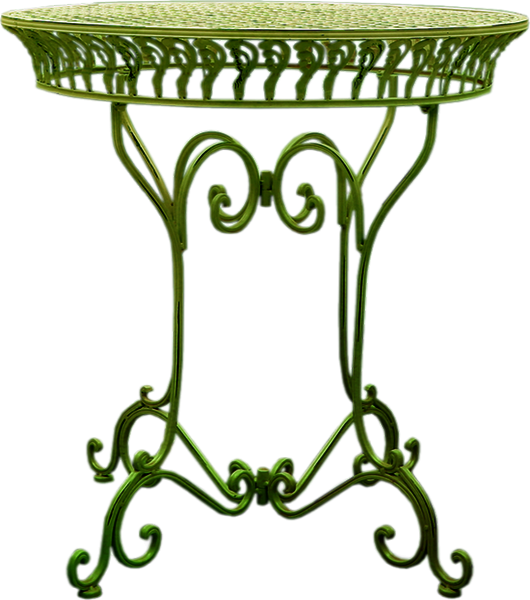 petite table en fer forg verte. Black Bedroom Furniture Sets. Home Design Ideas
