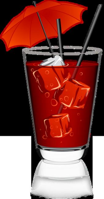 Cocktail rouge ombrelle dessin - Dessin cocktail ...