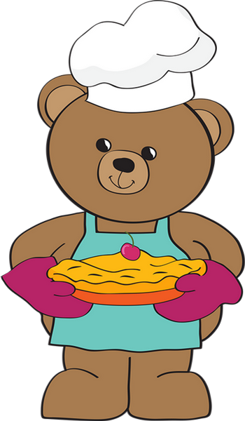 Chef cuisinier png ourson illustration dessin for Cuisinier png