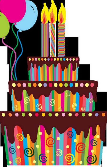 Торт со свечами для фотошопа